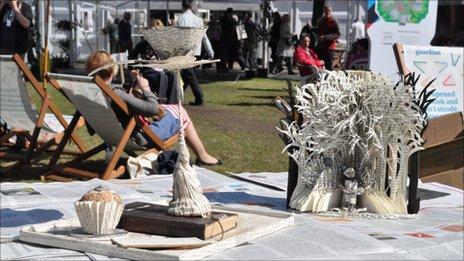 Edinburgh Book Festival sculptures are a whodunnit?